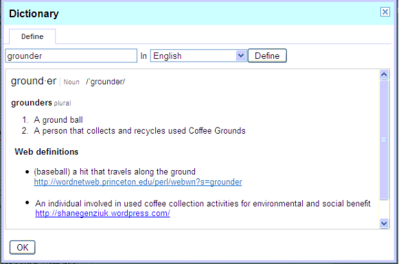 What is a coffee grounder?