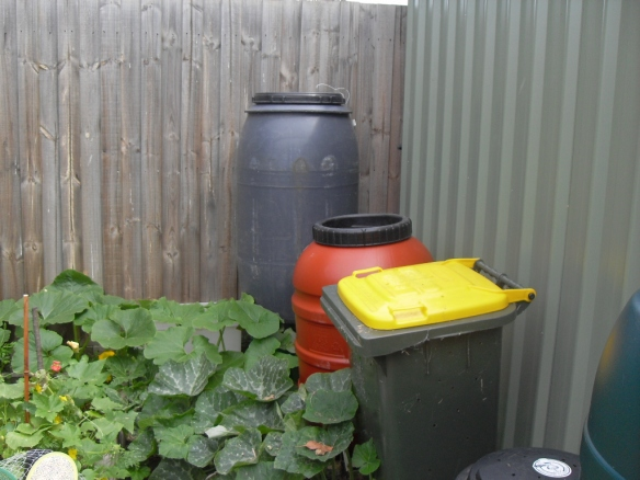 rain water barrels reuse