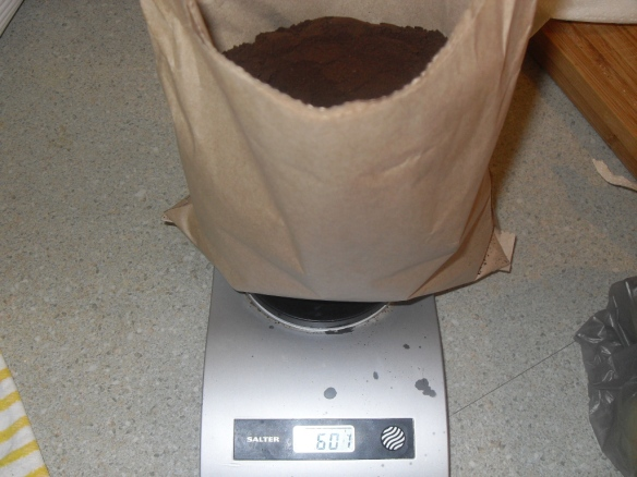 dry weight is 608 grams
