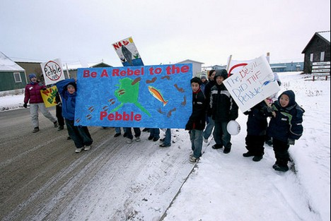 pebble mine protest
