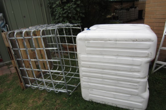 removing IBC from steel cage