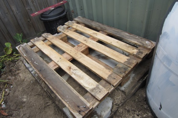 pallet on concrete floor