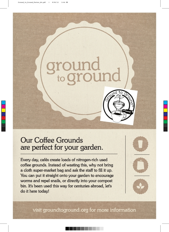 coffee grounds cafe poster