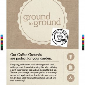 poster for collecting coffee grounds