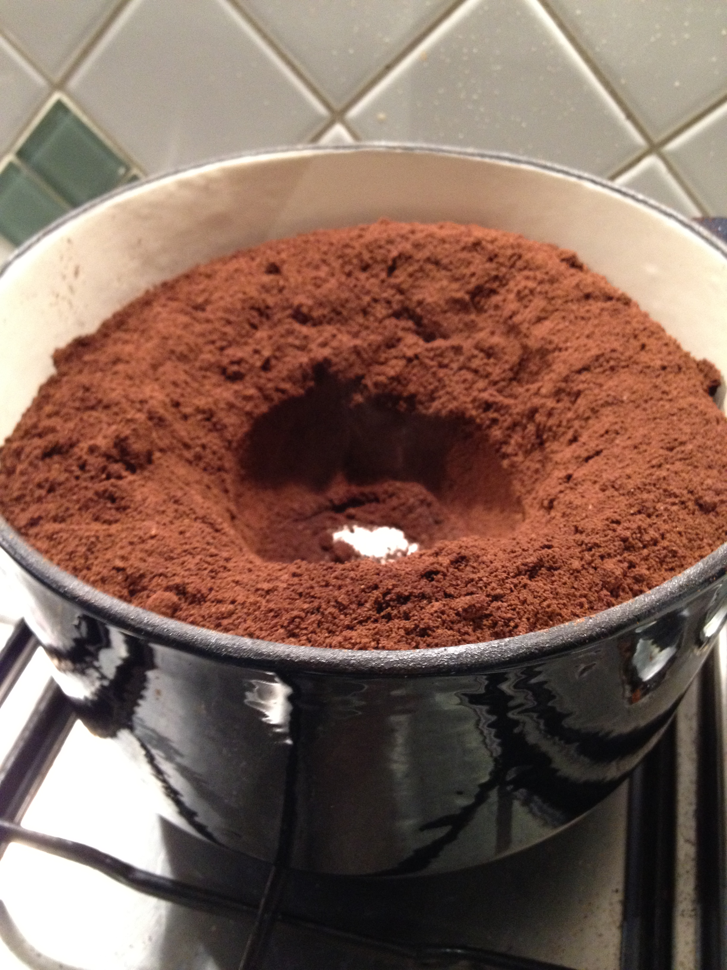 pot of coffee grounds