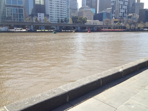 The Yarra River near the bay