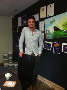 Adam Fairweather from Greencup coffee grounds