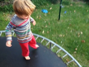 trampoline child jumping