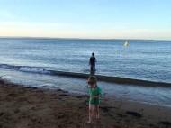 max and noah at the beach