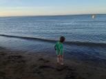 boy at a beach in phillip island