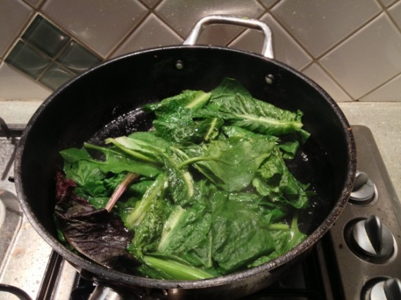 cooking warrigal greens