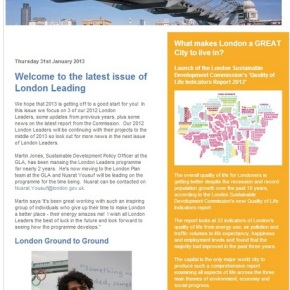 The latest issue of London Leading