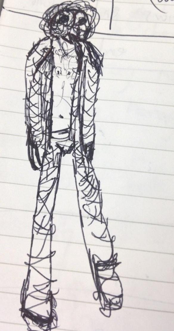 hand drawn figure