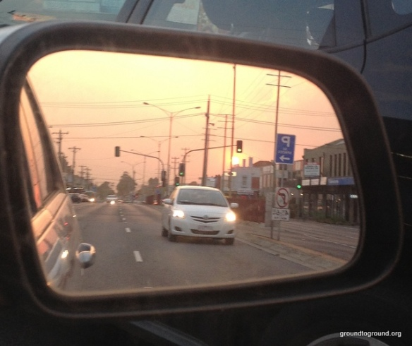 view from the rear view mirror