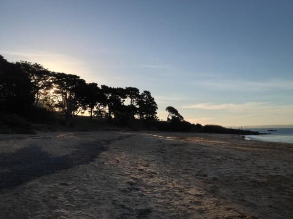 Cowes Beach sunset on the island