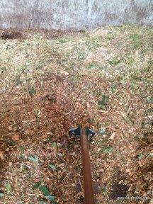 mulch shovelling