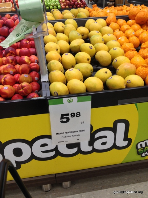 mangos for sale at supermarket