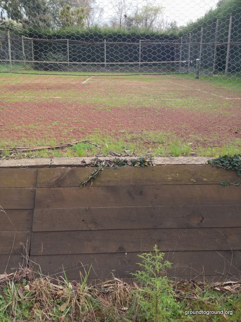 an old tennis court