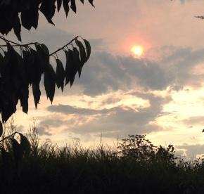 A Victorian Sunset overBushfires