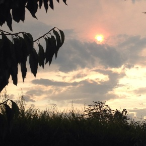 A Victorian Sunset over Bushfires
