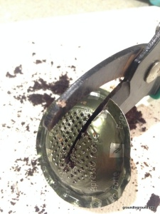 garden cutter coffee grounds pod