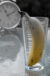 Banana In a Glass