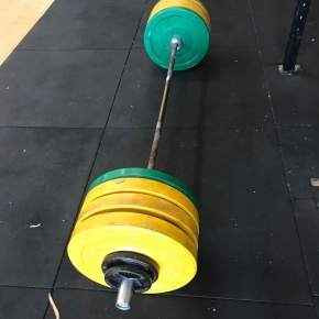 Old man deadlifts 300 pounds