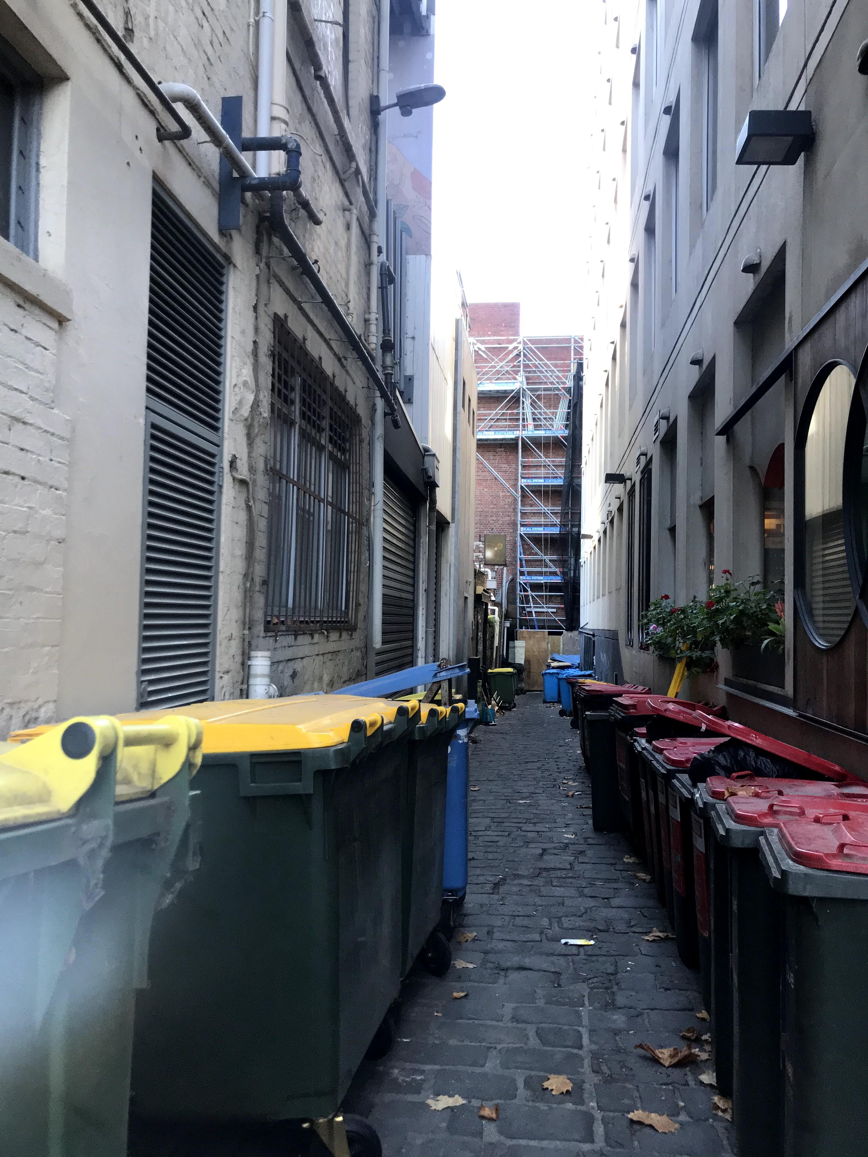 Emplty alleyway Melbourne