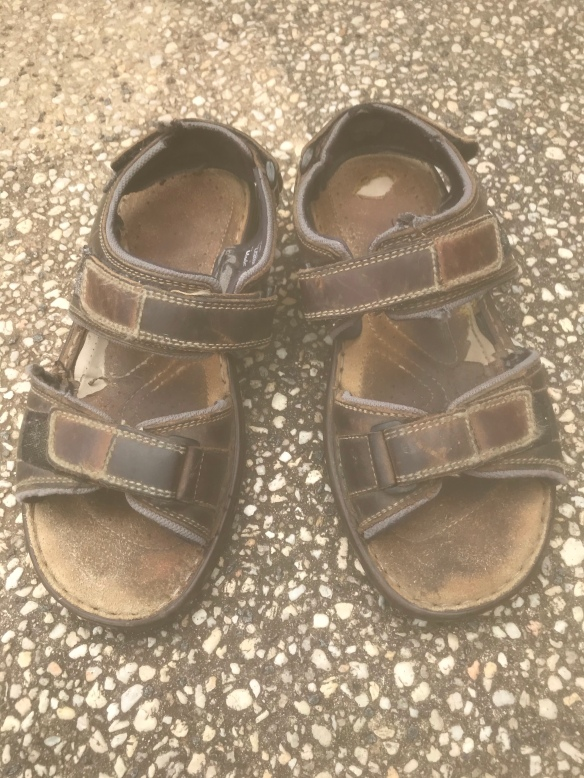 Old sandal pair that have been reused for many years